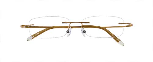 Sarah Palin Style Rimless Reading Glasses Gold Frames