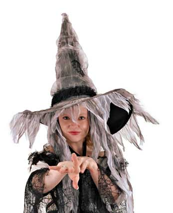 Scary Witch Adult Halloween Costume Withes Hat