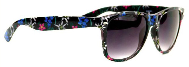 Katy Perry Style Floral Design Wayfarer Celebrity Sunglasses