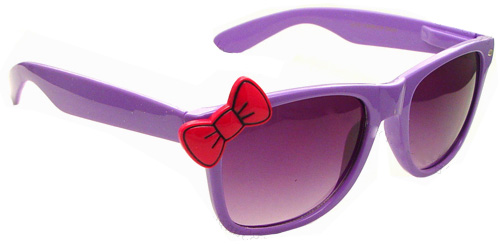 Bow Neon Color Kitty Sunglasses
