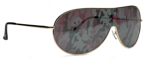 Camouflage Shield Sunglasses