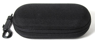 Canvas Zippered Sunglass Case with Belt Hook