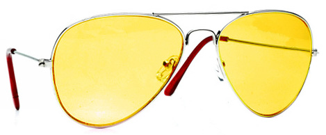 Big Lebowski Walter Yellow Aviator Sunglasses