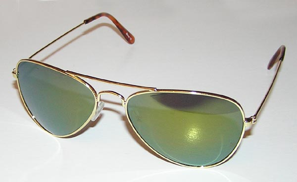 Rogue Trooper LTD Gold Mirrored Aviator Sunglasses